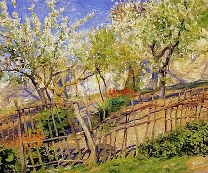 Blossoms And Wallflowers by Guy Rose