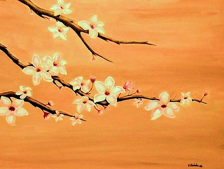 Blossoms on a Branch by Victoria Rhodehouse