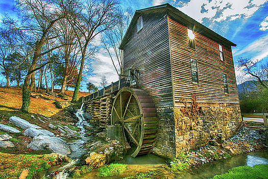 Blowing Cave Mill Near Smoky Mountains of East Tennessee by Carol Mellema
