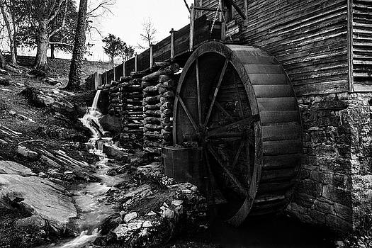 Blowing Cave Mill Smoky Mountains Tennessee by Carol Mellema
