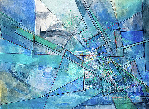 Blue abstract  by Robert Anderson