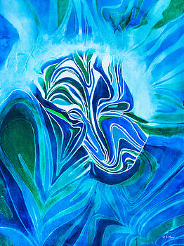 Blue Mask by Vickie Myers