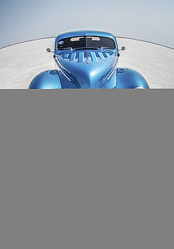 Blue  and Chrome Bonneville Salt Flats by Holly Martin