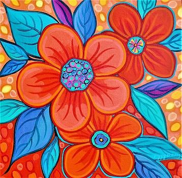 Blue And Orange 1 by Peggy Davis