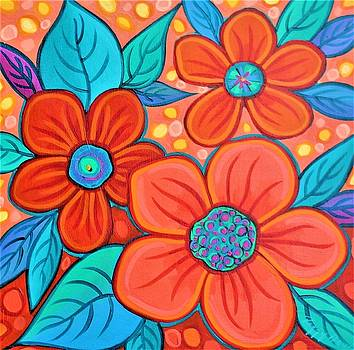 Blue And Orange 2 by Peggy Davis
