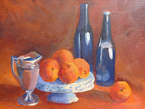 Blue and Peach by Maureen Obey