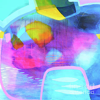 Blue and Pink Abstract by Tracy-Ann Marrison