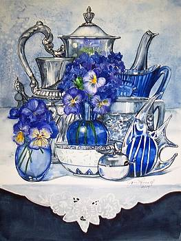 Blue and Silver by Jane Loveall