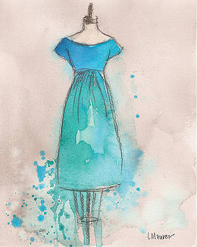 Blue and Teal Dress by Lauren Maurer