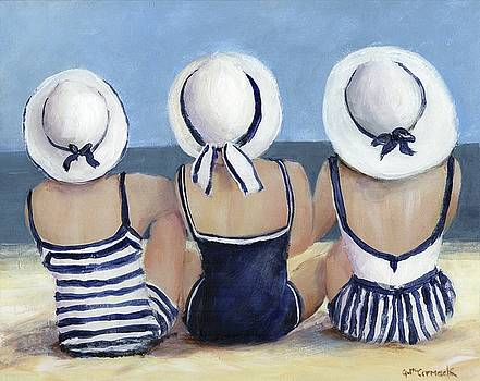 Blue and White at the Beach by Gail McCormack