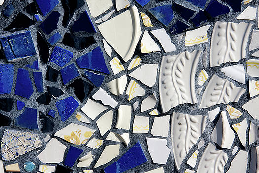 Jill Lang - Blue and White Mosaic Tiles