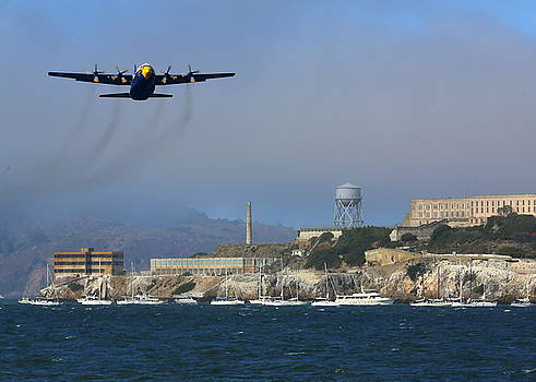 John King - Blue Angels C130 Fat Albert Passes Alcatraz