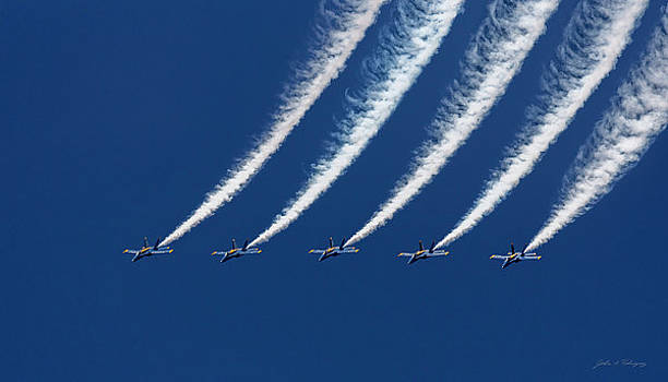 Blue Angels Formation by John A Rodriguez