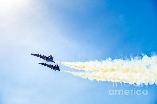 Blue Angels into the Sun by Jim DeLillo