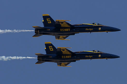 Blue Angels Solos in Formation by John Daly