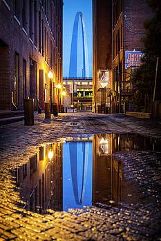 Blue Arch Alley by Notley Hawkins