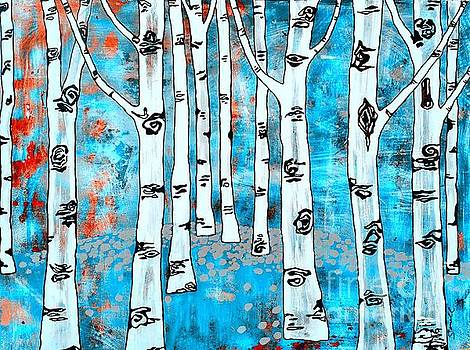 Blue Aspen Tree by Amy Sorrell