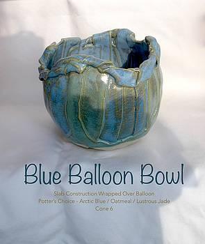 Blue Balloon Bowl by Teresa Tromp