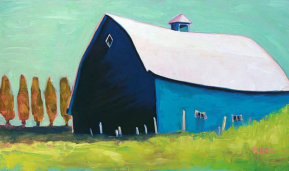 Blue Barn by Leslie Rock