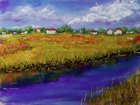 Blue Bayou - Pastel Painting by Barry Jones