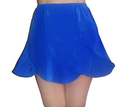 Sofia Metal Queen - blue bell flower shape mini skirt. Ameynra fashion for teens