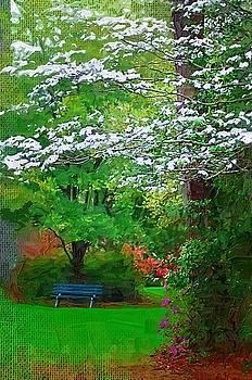 DONNA BENTLEY - blue bench in park