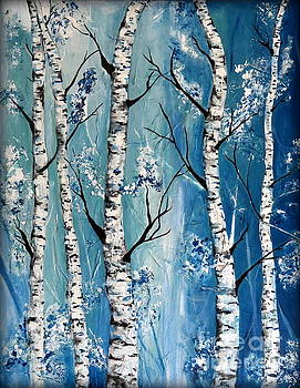 Blue Birch by Sheri Locher