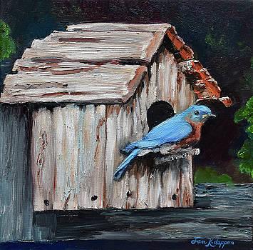 Blue Bird on Lake Odom by Jan Dappen