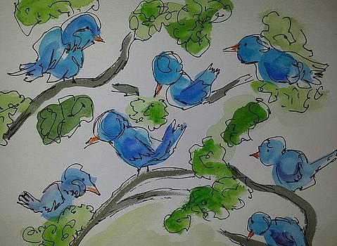 Blue Birds by Kathy Sweeney