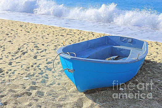 Blue Boat by Susan Wall