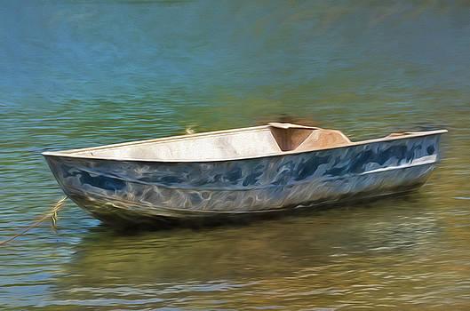 Blue Boat by Winnie Chrzanowski
