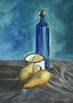 Blue Bottle and Pears by Marna Edwards Flavell