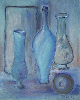 Blue Bottles  by Michel Croteau