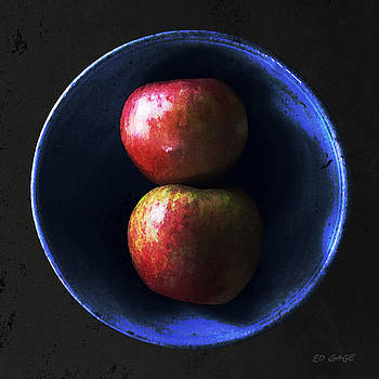 Blue Bowl Apples by Ed A Gage