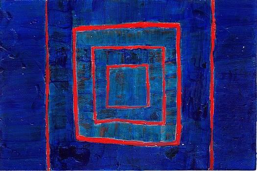 Blue Box Abstract by Joseph Bradley