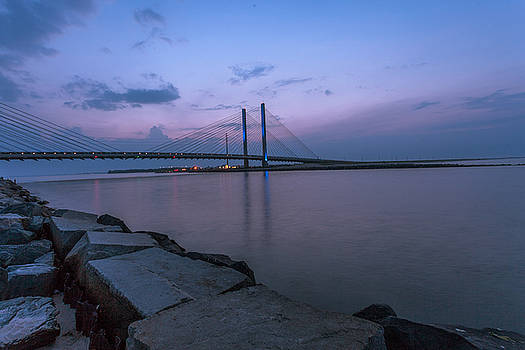 Blue Bridge at sunset by Terry Thomas