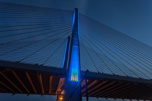 Blue bridge main beam by Terry Thomas