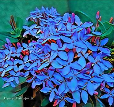 Rizwana A Mundewadi - Blue Bunches of Harmony