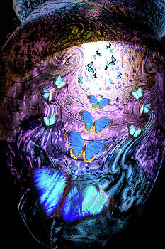 Blue Butterflies by Lisa Yount