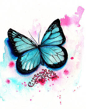 Blue Butterfly by Isabel Salvador