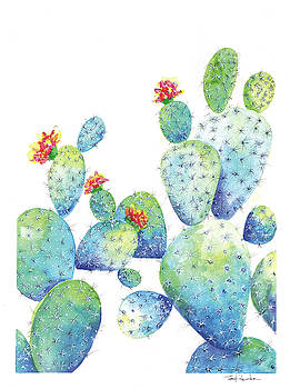 BLue Cactus by Isabel Salvador