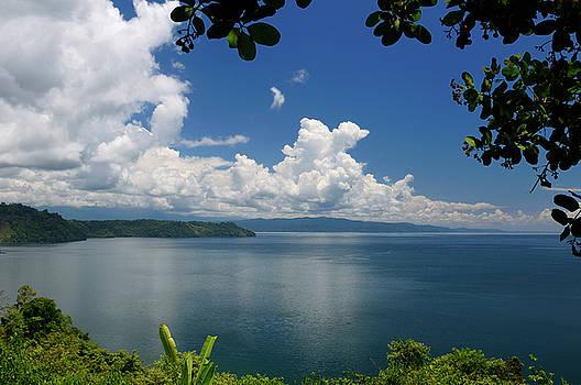 Reimar Gaertner - Blue calm water of Golfo Dulce at Osa Peninsula Costa Rica under