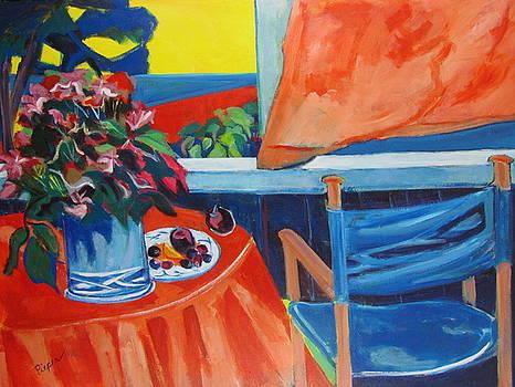 Betty Pieper - Blue Canvas Chair