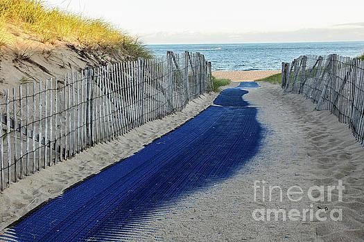 Blue carpet with sand by Miro Vrlik