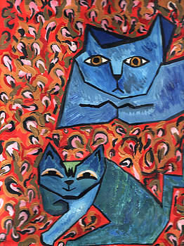 Blue Cats by Heather Lennox