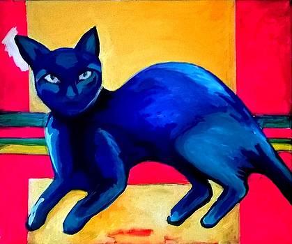 Blue cats by Raquel Sarangello