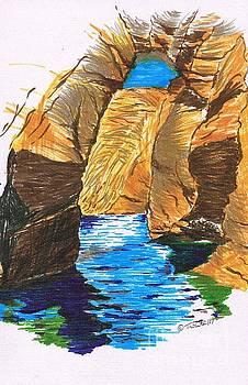 Blue Caves by Teresa White