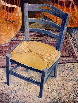 Blue Chair Provence France 2004 by Enver Larney