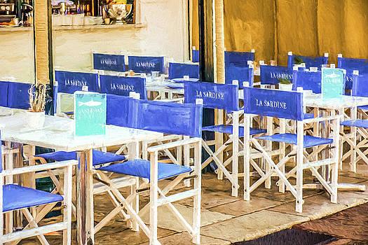 Blue Chairs Saint Tropez by Elly De vries