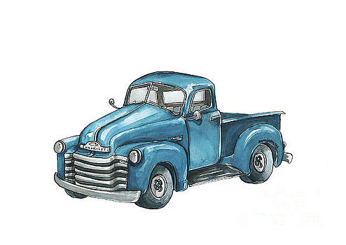 Blue Chevy Truck by Annie Laurie